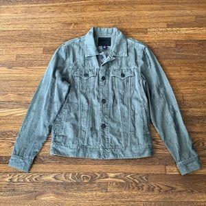 Men's True Religion Green Jacquard Denim Jacket